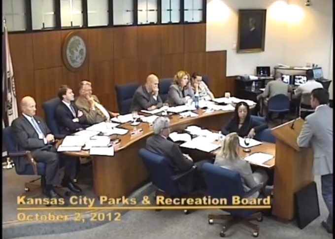 Speaking to the parks and recreation board